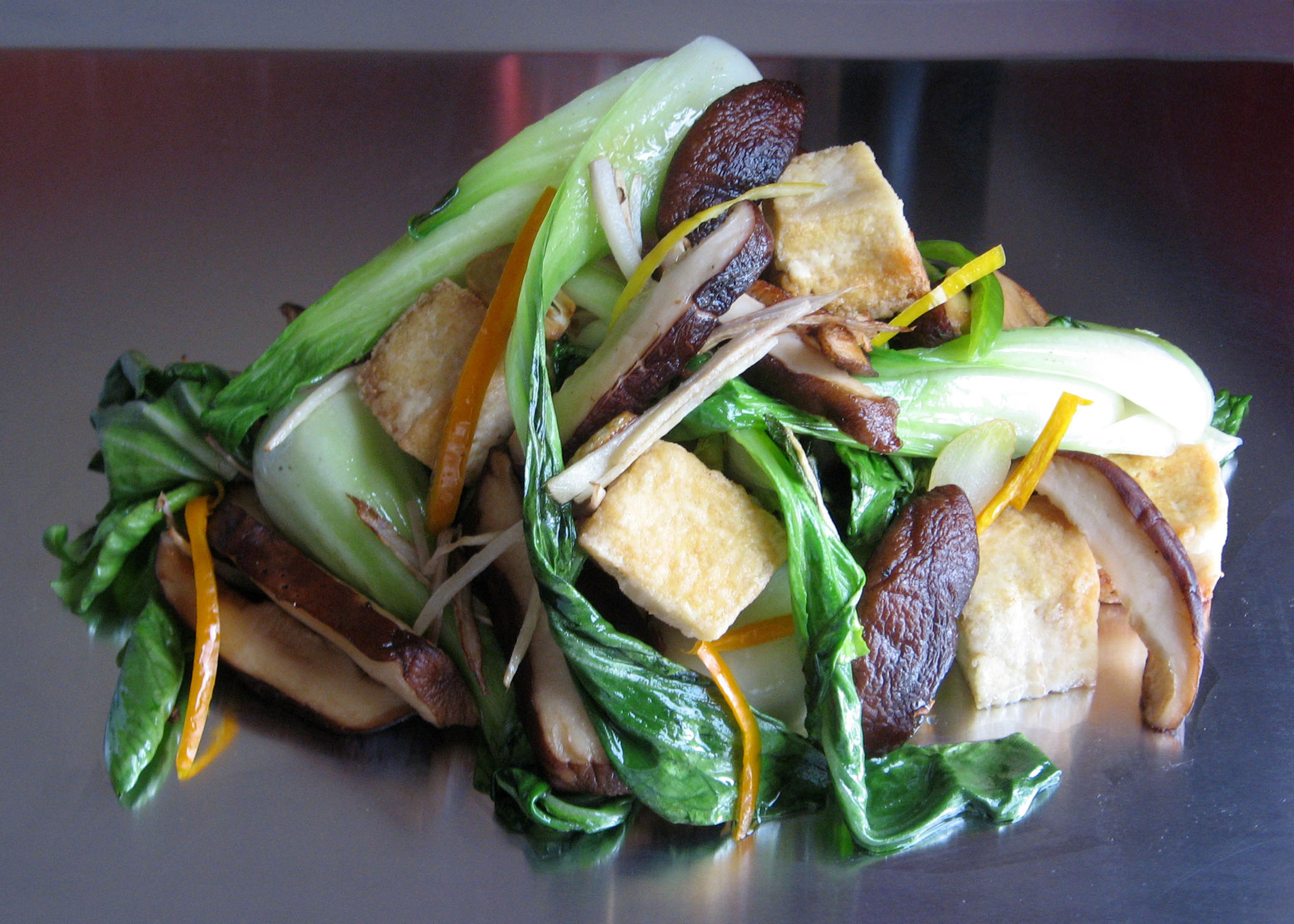 Seared Baby Bok Choy With Tofu & Shiitakes Recipes — Dishmaps
